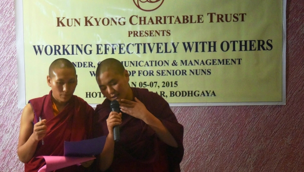 Kun Kyong Arranges Training for Nuns in Gender, Management, and Communication