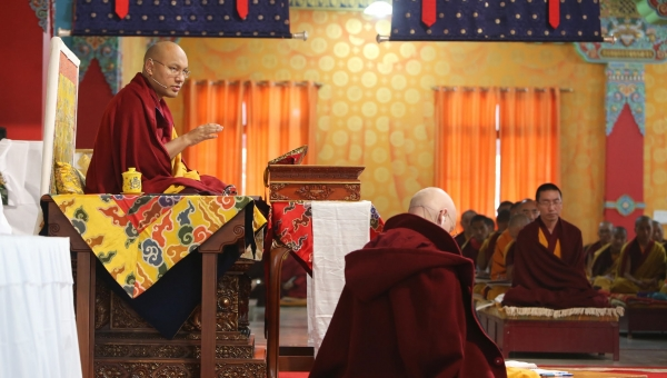 The Gyalwang Karmapa Continues Teaching, Announces Plans for Shedra Curriculum